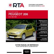 E-RTA Peugeot 206 HAYON 3 portes de 09/1998 à 03/2009