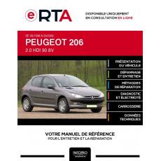 E-RTA Peugeot 206 HAYON 5 portes de 09/1998 à 03/2009