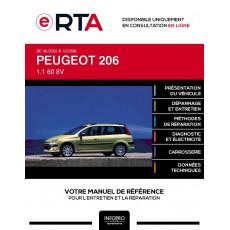 E-RTA Peugeot 206 BREAK 5 portes de 06/2002 à 12/2006