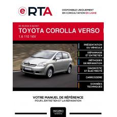 E-RTA Toyota Corolla verso II MONOSPACE 5 portes de 05/2004 à 06/2007