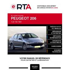 E-RTA Peugeot 206 BERLINE 4 portes de 10/2005 à 03/2009