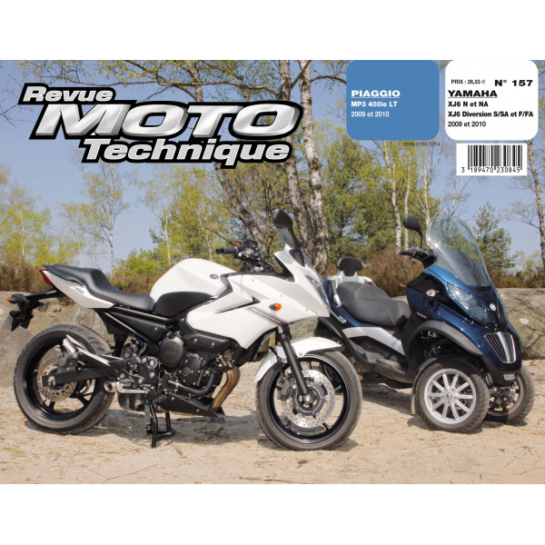 rmt piaggio mp3 400 lt et yamaha xj6. Black Bedroom Furniture Sets. Home Design Ideas