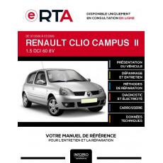 E-RTA Renault Clio campus II HAYON 3 portes de 07/2006 à 07/2009