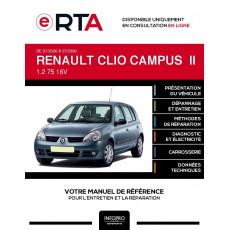 E-RTA Renault Clio campus II HAYON 5 portes de 07/2006 à 07/2009