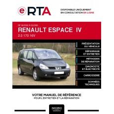E-RTA Renault Espace IV MONOSPACE 5 portes de 09/2002 à 03/2006