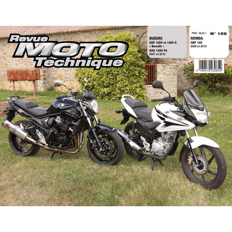Revue Technique Rmt Honda cbf 125 et Suzuki gsf/gsx 1250 bandit