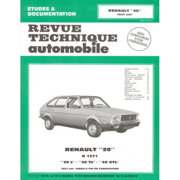 Revue Technique Renault 20 l tl et gtl