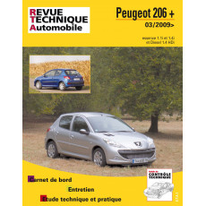 Revue Technique Automobile Peugeot 206+