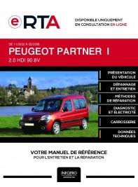 E-RTA Peugeot Partner I BREAK 5 portes de 11/2002 à 05/2008