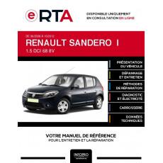 E-RTA Renault Sandero I HAYON 5 portes de 06/2008 à 10/2012