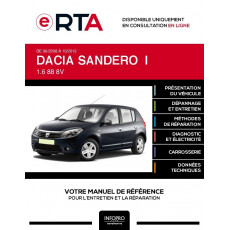 E-RTA Dacia Sandero I HAYON 5 portes de 06/2008 à 10/2012