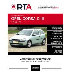 E-RTA Opel Corsa III HAYON 3 portes de 10/2000 à 08/2003