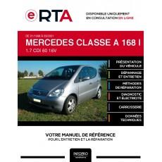 E-RTA Mercedes Classe a I MONOSPACE 5 portes de 01/1998 à 03/2001