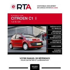 E-RTA Citroen C1 I HAYON 3 portes de 06/2005 à 11/2008