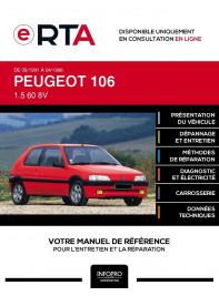 E-RTA Peugeot 106 HAYON 3 portes de 09/1991 à 04/1996