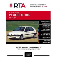 E-RTA Peugeot 106 HAYON 5 portes de 09/1991 à 04/1996
