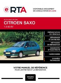E-RTA Citroen Saxo HAYON 3 portes de 03/1996 à 09/1999