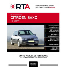 E-RTA Citroen Saxo HAYON 3 portes de 09/1999 à 12/2004