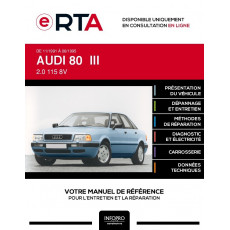 E-RTA Audi 80 III BERLINE 4 portes de 11/1991 à 06/1995