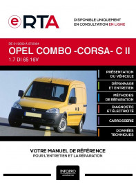 E-RTA Opel Combo -corsa- II FOURGON 5 portes de 01/2002 à 07/2004