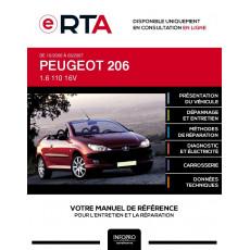 E-RTA Peugeot 206 CABRIOLET 2 portes de 10/2000 à 03/2007
