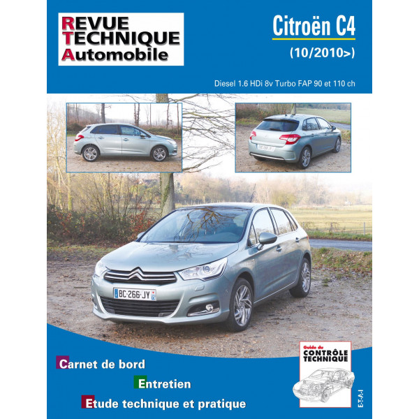 revue technique citroen c4 ii 1 6 hdi 112 92 turbo 16v 8v rta site officiel etai. Black Bedroom Furniture Sets. Home Design Ideas