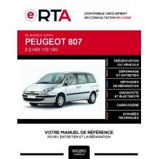E-RTA Peugeot 807 MONOSPACE 5 portes de 06/2002 à 12/2014