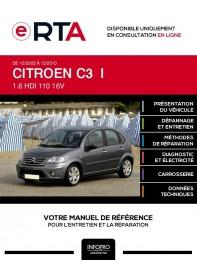 E-RTA Citroen C3 I HAYON 5 portes de 10/2005 à 12/2010