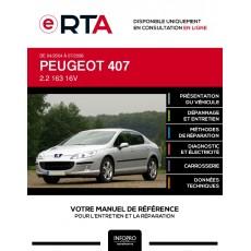 E-RTA Peugeot 407 BERLINE 4 portes de 04/2004 à 07/2008