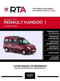 E-RTA Renault Kangoo I BREAK 5 portes de 03/2003 à 12/2007