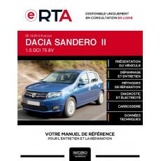 E-RTA Dacia Sandero II HAYON 5 portes de 10/2012 à ce jour
