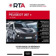 E-RTA Peugeot 207 + HAYON 3 portes de 11/2012 à 12/2014