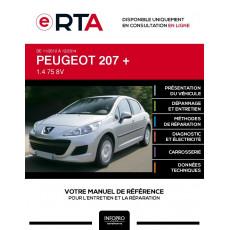 E-RTA Peugeot 207 + HAYON 5 portes de 11/2012 à 12/2014