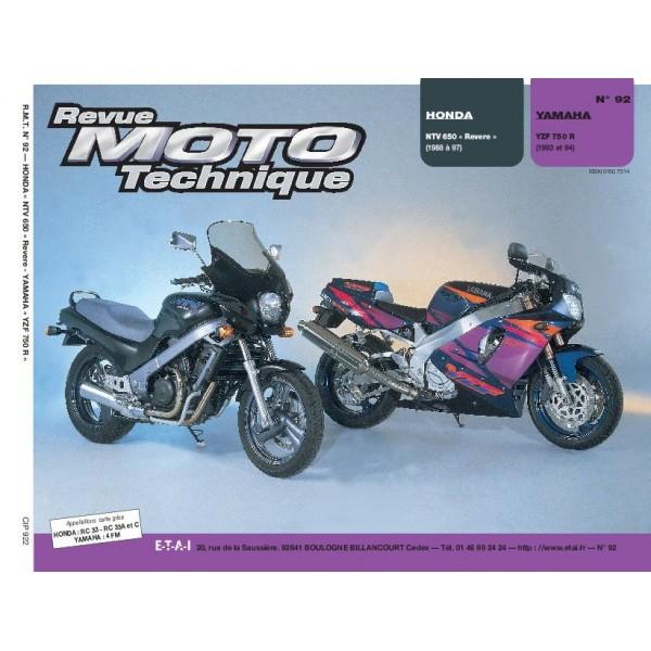 Revue Technique Rmt Honda ntv650 et Yamaha yzf 750r