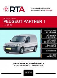 E-RTA Peugeot Partner I FOURGON 3 portes de 12/2002 à ce jour