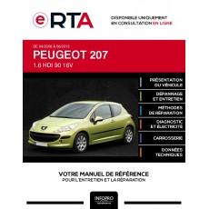 E-RTA Peugeot 207 HAYON 3 portes de 04/2006 à 06/2013