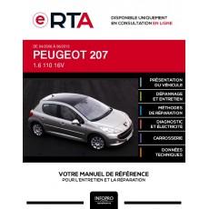 E-RTA Peugeot 207 HAYON 5 portes de 04/2006 à 06/2013