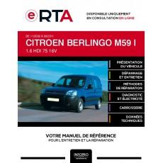 E-RTA Citroen Berlingo I FOURGON 5 portes de 11/2002 à 09/2011