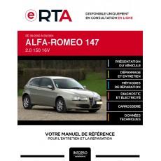 E-RTA Alfa-romeo 147 HAYON 3 portes de 09/2000 à 09/2004