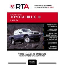 E-RTA Toyota Hilux III PICKUP DBL.CAB. 4 portes de 03/1998 à 02/2002