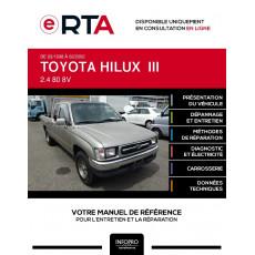 E-RTA Toyota Hilux III PICKUP 2 portes de 03/1998 à 02/2002