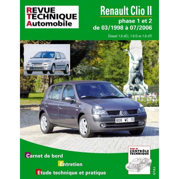 revue technique renault clio 2 phase 1 et 2 diesel rta. Black Bedroom Furniture Sets. Home Design Ideas