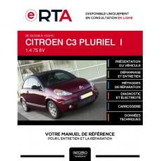 E-RTA Citroen C3 pluriel I CABRIOLET 2 portes de 03/2008 à 12/2010
