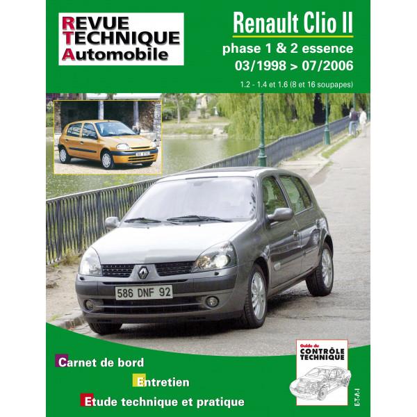 Revue Technique Renault clio 2 phase 1 et 2 essence