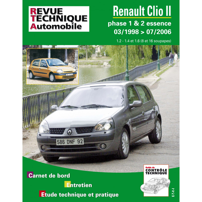 revue technique renault clio 2 phase 1 et 2 essence rta site officiel etai. Black Bedroom Furniture Sets. Home Design Ideas