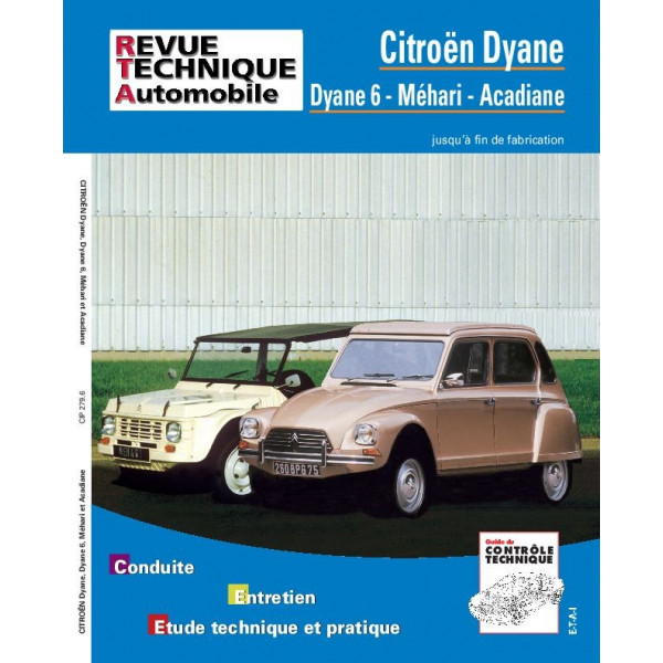 Revue Technique Citroen dyane acadiane mehari