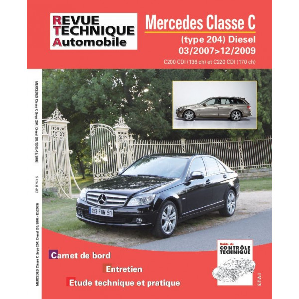 Revue Technique Mercedes classe c et 170