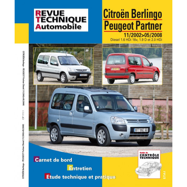 Revue Technique Peugeot berlingo combi et partner