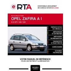 E-RTA Opel Zafira I MONOSPACE 5 portes de 03/1999 à 07/2005