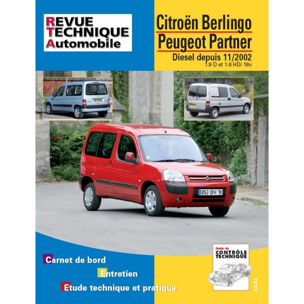 Revue Technique Peugeot berlingo et partner et combi